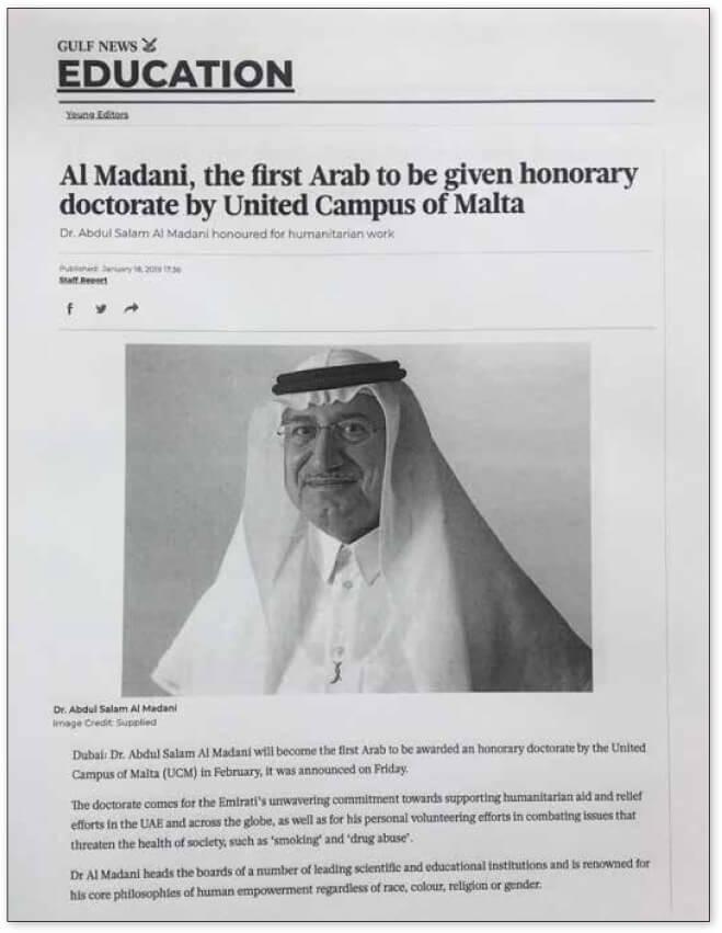 UCM-Honors-Chairman-Dr-Abdul-Salam-Al-Madani-2019-Gulf-News
